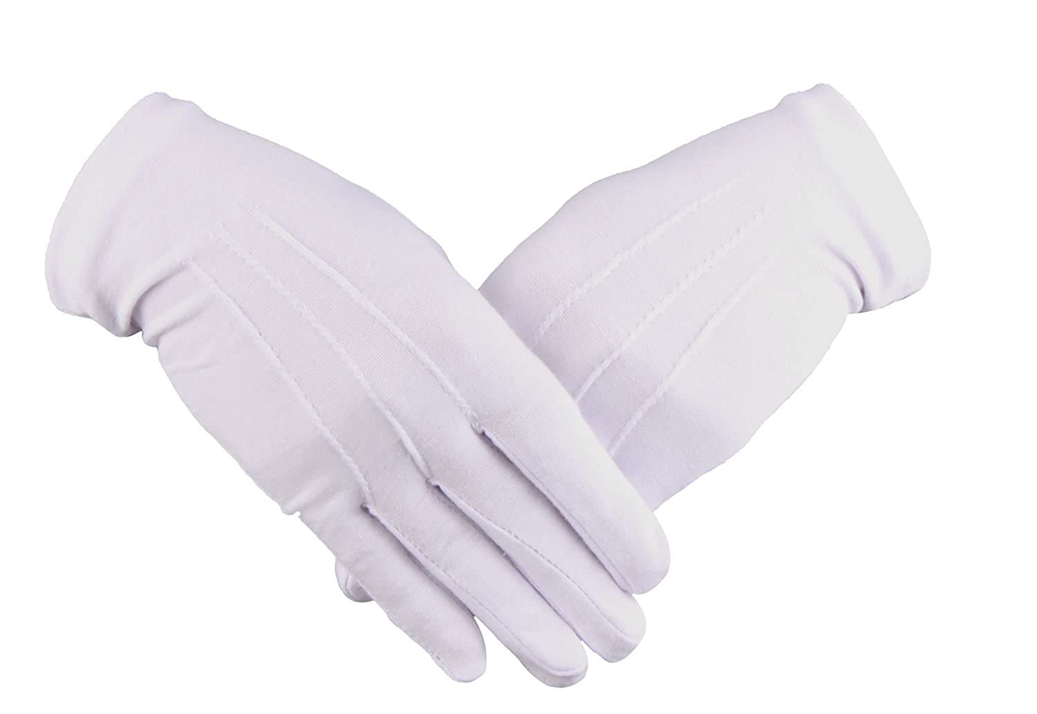 WDSKY Men's Women's Cotton White Gloves for Parade Formal GLOVEWH02
