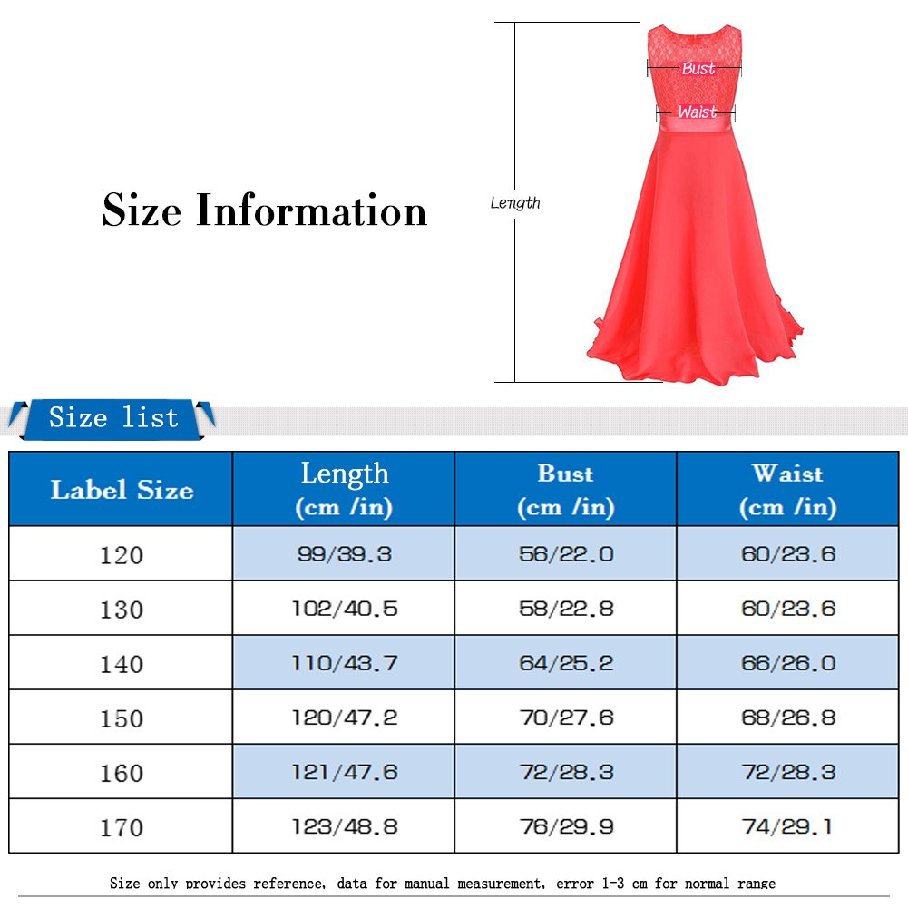 Amazon.com: LPATTERN Big Girls Chiffon Lace Flower Long Dress Wedding Pageant Formal Dress Party Gown: Clothing