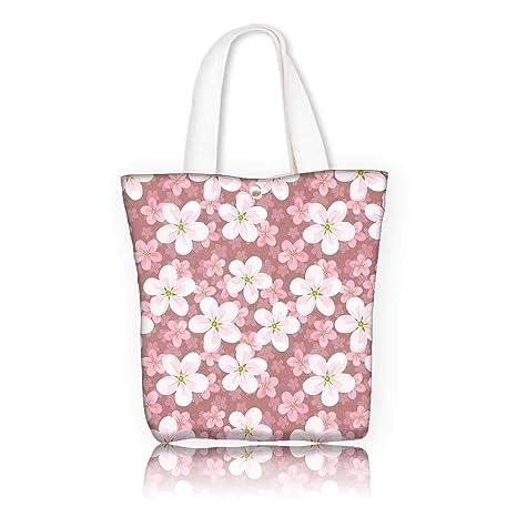 Amazon.com  Stylish Canvas Zippered Tote Bag -W14 x H15.7 x D4.7 ... 5005fd4bad9b0