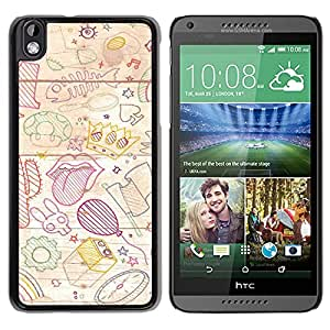 New Beautiful Custom Designed Cover Case For HTC Desire 816 With Hand Painted Background Phone Case