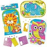 Mosaik Bastelsets Tiere zum Basteln für Kinder (4 Stück)