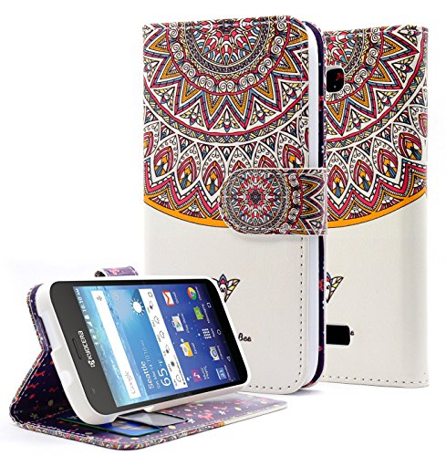 Kyocera Hydro Wave Case, Hydro Air Case, NageBee [Kickstand Feature] Premium PU Leather Flip Fold Wallet Case with [ID&Credit Card Slot] for Kyocera Hydro Wave / Hydro Air - Royal Totem - Kyocera Wallet Phone Case