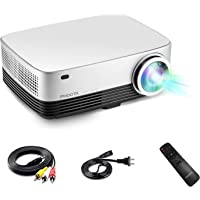Phoota HD 3600-Lumens LED Home Theater Projector (Silver)