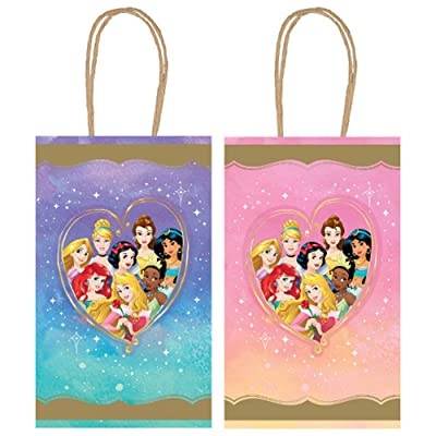 """Disney Princess"" Assorted Party Kraft Bags, 8.25"" H x 5.25"" 8 Ct.: Toys & Games"