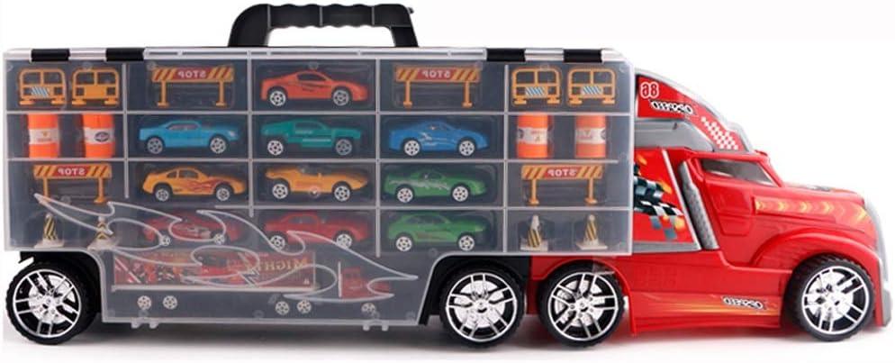 camion GRANDE con 6 MACCHININE auto Maxi Truck Gioco Bambini