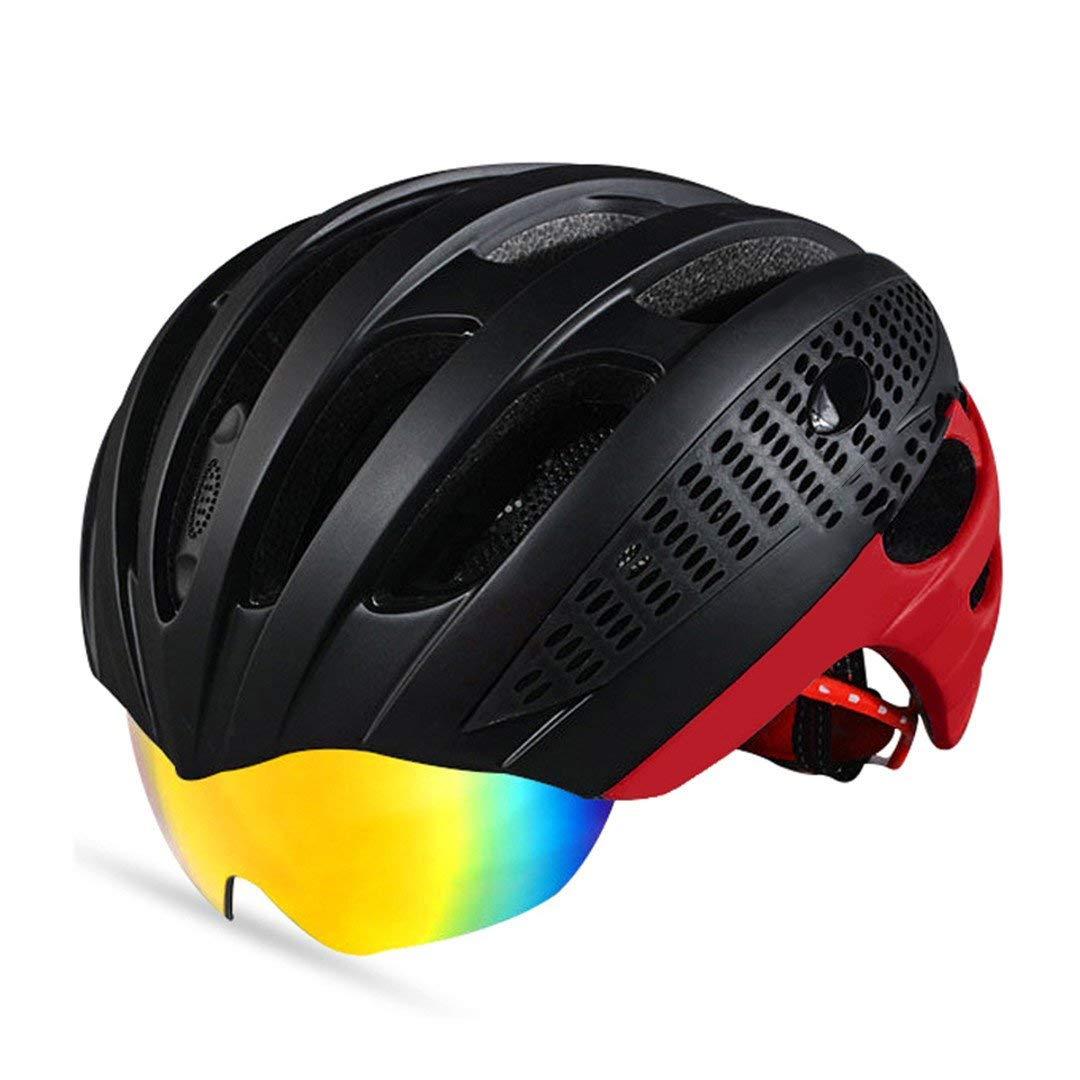 Style3 WT049 2BKR Motorcycle Helmet Cycling Helmet 3 Lens Ultralight MTB Bicycle Bike Motorbike Men Women Integrally-Molded Eps Accessories Road Helmet