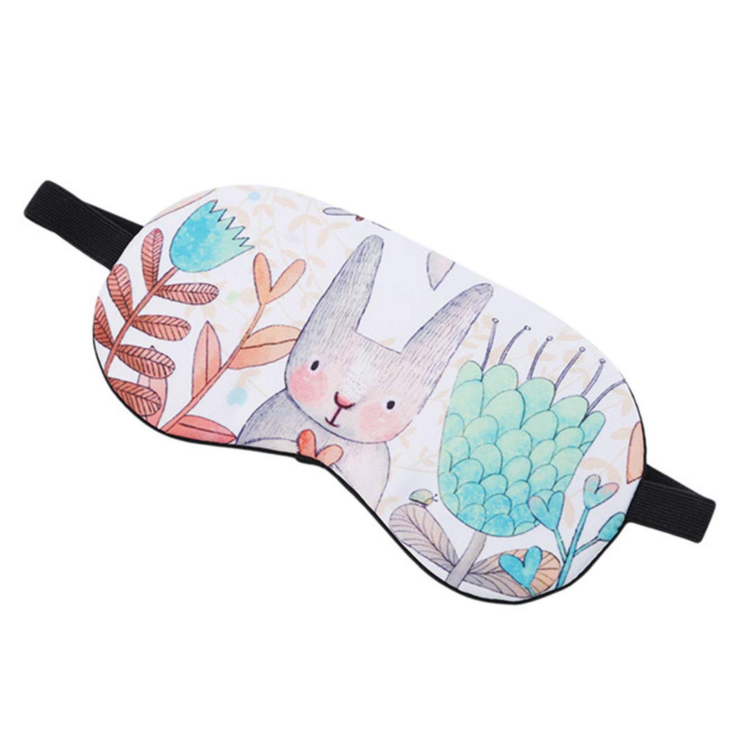 LZIYAN Cartoon Sleep Eye Mask Breathable Cute Animal Pattern Sleeping Mask Travel Sleeping Blindfold Nap Cover Gift For Everyone,Rabbit by LZIYAN (Image #3)