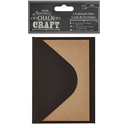 DOCrafts Chalk Craft Chalkboard Cards and Envelopes, Mini