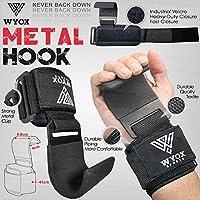 WYOX Power Weight Lifting Training Gym Straps Hook bar...