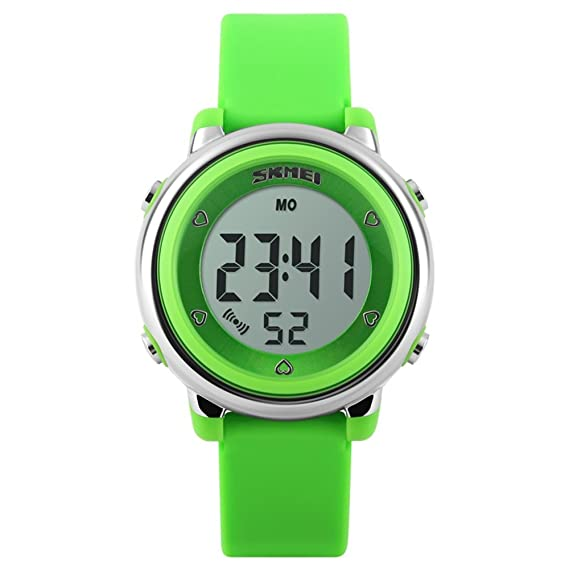 TONSHEN Relojes De Niños Niña Digitales Outdoor Deportivos LED 7 Colores Luz Contraluz 50M Resistente Agua