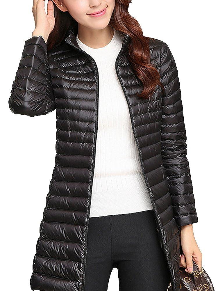 793e3bd9c Women's Packable Ultralight Long Down Jacket Puffer Coat Casual Slim Parka  Outerwear