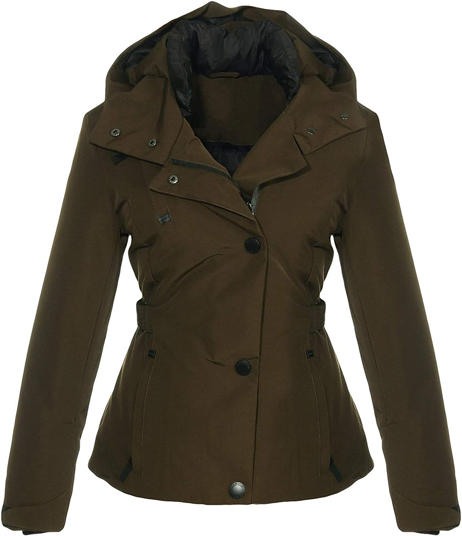 Steppjacke JF1841 malito Damen Winterjacke mit Fell Jacke mit Kapuze gef/ütterte Kurzjacke