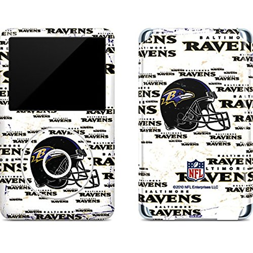 Baltimore Ravens Ipod Skin - NFL Baltimore Ravens iPod Classic (6th Gen) 80 & 160GB Skin - Baltimore Ravens - Blast Vinyl Decal Skin For Your iPod Classic (6th Gen) 80 & 160GB