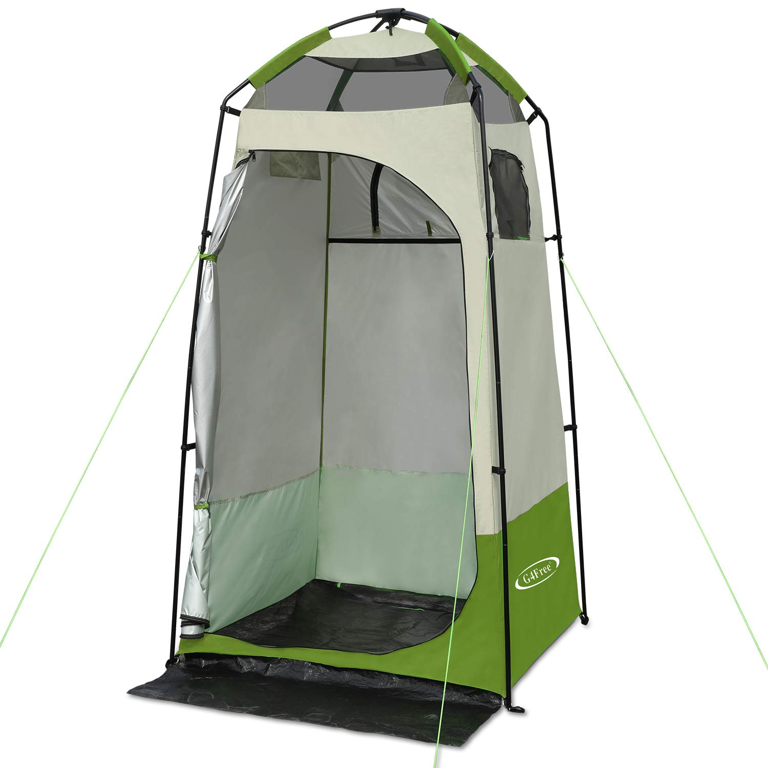 G4Free Portable Easy Up Privacy Shelter for Changing,Dressing,Shower Room Outdoor Camping Tent(Green)