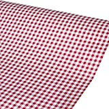 SimpleLife4U Red Gingham Shelf Drawer Liner Easy Apply Contact Paper Cover Writing Desk School Locker 17.8 Inch By 13 Feet