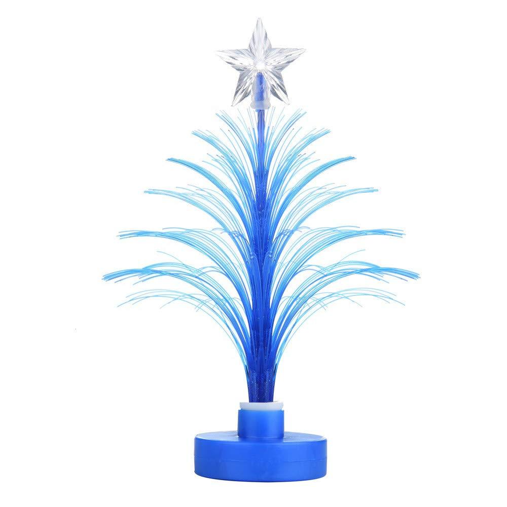 Yikey Christmas Tree LED Light,Christmas Tree Multi Color LED Light Clear Acrylic Christmas Tree Mood Lamp Night (Blue)