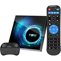 Android TV Box 10.0 with 4GB RAM 32GB ROM, T95 Android Box Allwinner H616 Quad core Dual WIFI 2.4/5.0GHz Bluetooth 5.0…