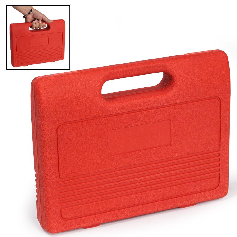TecTake Set de 22 piezas de reposicionador de pistones de freno con 2 árboles Reposicionador con maletín rojo: Amazon.es: Coche y moto