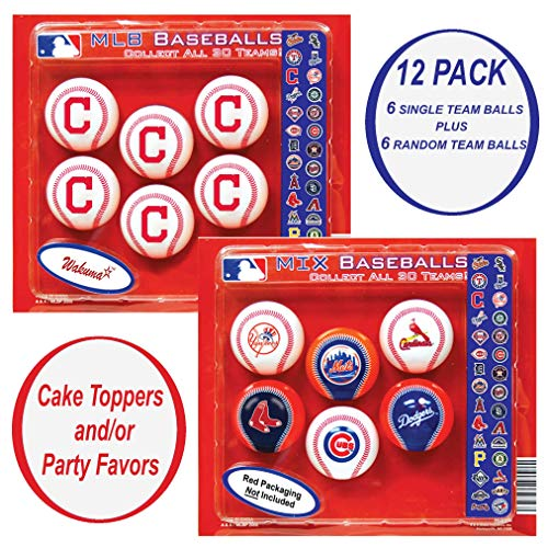 (Indians Cupcake Toppers. Party Favors Decorations & Supplies. Cleveland Baseball Birthday Cake Decor & Supply.)