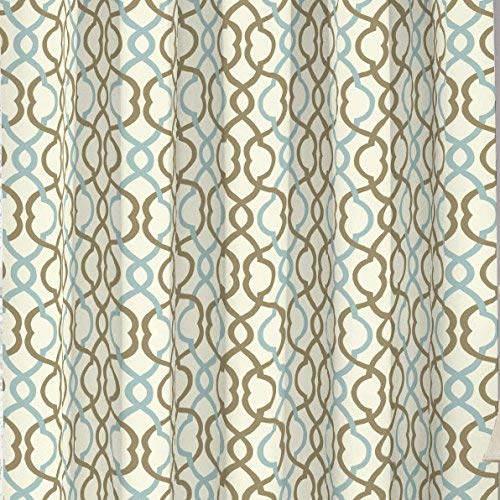 Traditions By Waverly 14970052036LAT Make Waves 52-Inch by 36-Inch Tier and Valance Set, Latte