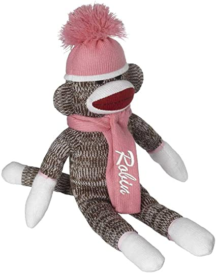 Animal Plush Toys Mittens From The Sock Monkey Family Stuffed Baby Plush Toys