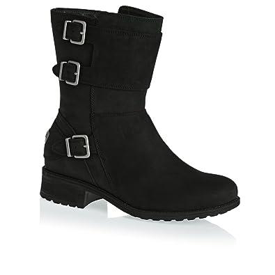 9ce93af92ad UGG Women's Wilcox Leather Water Resistant Zip Boot Black-Black-5 ...