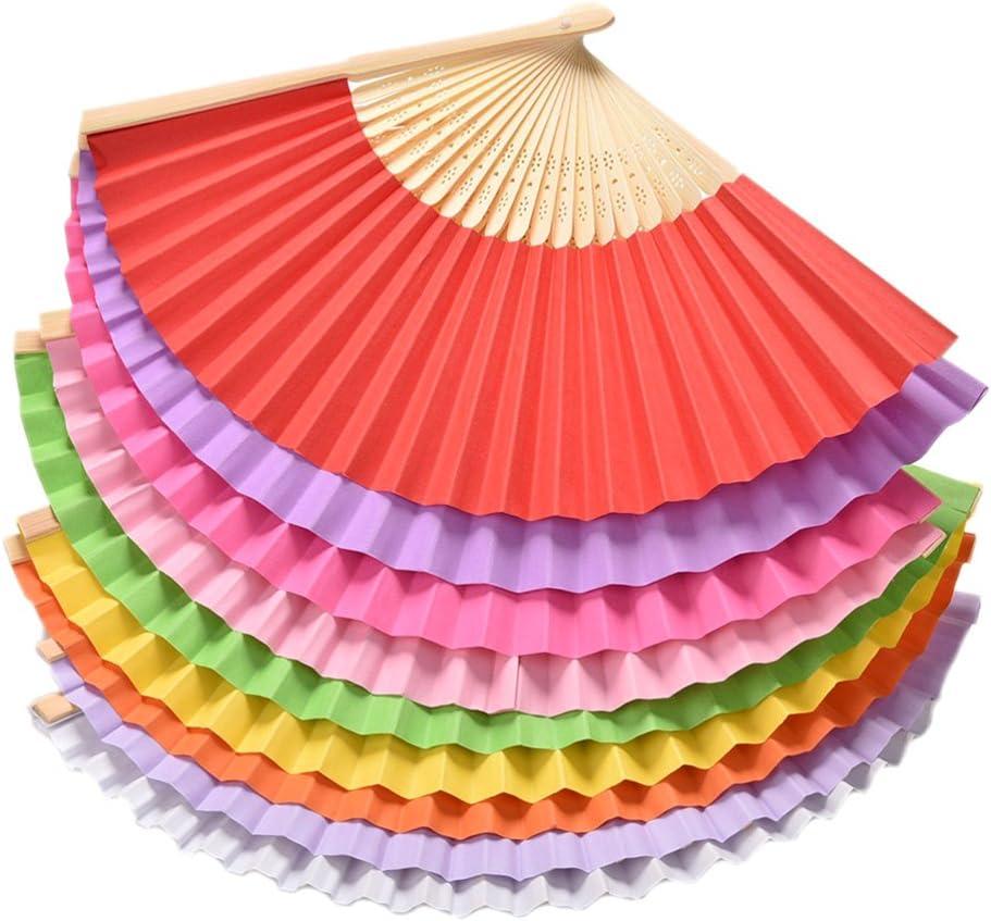 1X Toruiwa Holz Handf/ächer F/ächer Faltbare Fan f/ür DIY Hochzeit Geschenk Tanzabend Party Kost/üm Maske Karnevals 21*1.4cm Blau