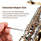 VGEBY Woodwind Instrument Repair Tool, Steel Spring Hook for Sax, Clarinet, Oboe, Flute