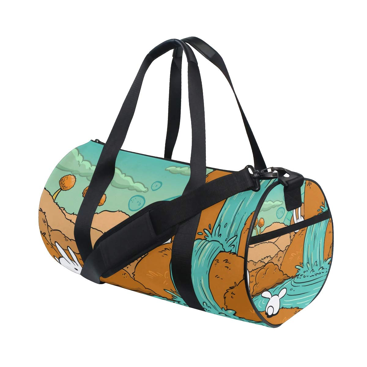 oulianスポーツバッグAfrica Ribbons Mens Duffle Luggage TravelバッグKid軽量ジムバッグ One Size picture8 B07G5CQ8T3