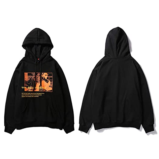 Amazon.com: Hoodie Sweatshirt Japanese Ukiyo E Streetwear Hip Hop Men Casual Pullover: Clothing