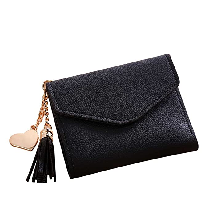 096a657574f Clearance Sale Women Small Wallet RFID Blocking Leather Bifold Card Holder  Zipper Coin Purse at Amazon Women's Clothing store: