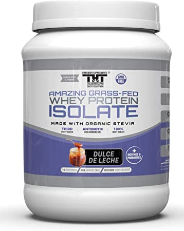 Increíblei gramínea alimentada con proteína de suero en polvo. (Dulce De Leche, 15 Serving)