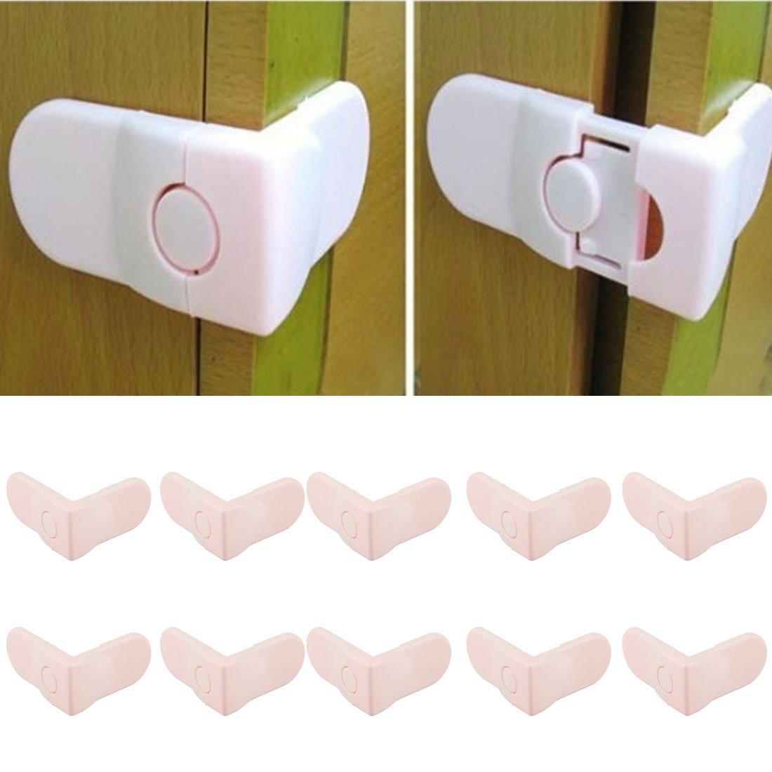 Voberry(TM) Baby Drawer Safety Lock For Door Cabinet Refrigerator Window (Pink)