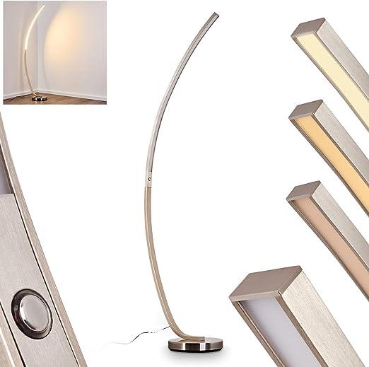 24 Watt LED Steh Lampe dimmbar Wohn Ess Schlaf Zimmer Stand Leuchte gebogen
