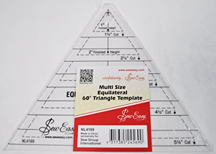 Amazon.com: Sew Easy Multi Size Equilateral 60 Degree Triangle Quilt ...