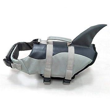 OOFAYWFD Perro Life Jacket Gran Mascota Flotador Abrigo Perros Salvavidas Chaleco De Seguridad Tiburón Tamaño S M L: Amazon.es: Hogar