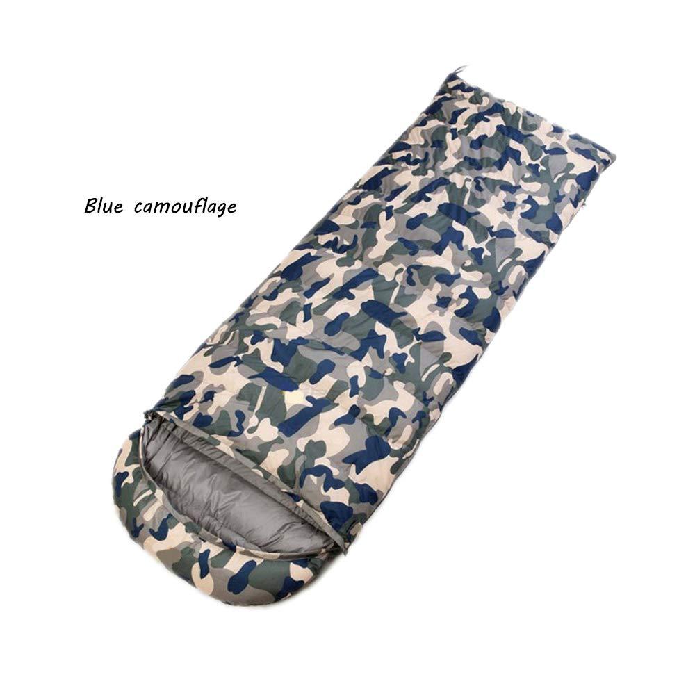 封筒のキャンプの寝袋、防水軽量の携帯用圧縮袋0度 ~ 14 華氏(210cm*80cm) B07PFLXDZS bluecamouflage 800g 800g bluecamouflage