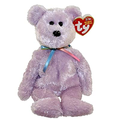 TY Beanie Baby - SHERBET the Bear (Purple Version): Toys & Games