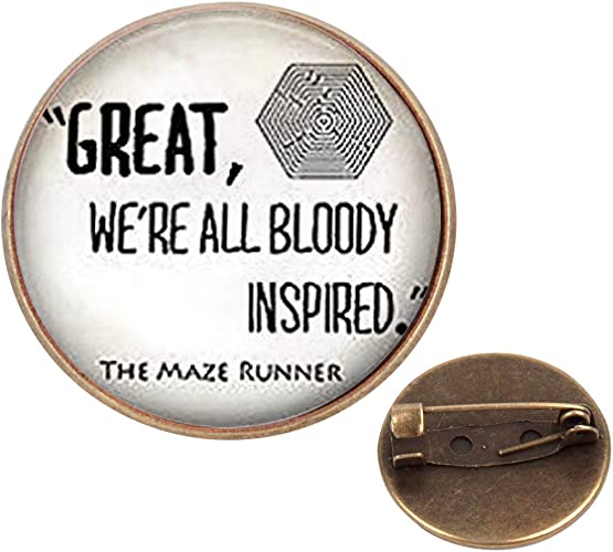 WAZZIT Round Metal Tie Tack Hat Lapel Pin Brooches Maze Runner Quote Banquet Badge Enamel Pins Trendy Accessory Jacket T-Shirt