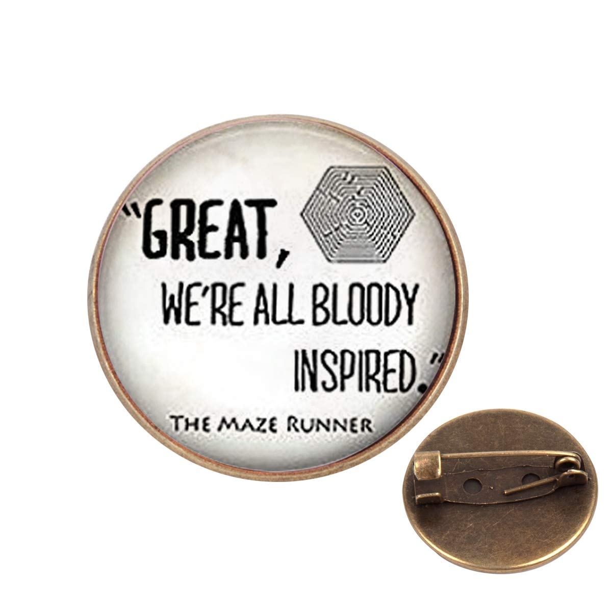 Pinback Buttons Badges Pins Maze Runner Quote Lapel Pin Brooch Clip Trendy Accessory Jacket T-Shirt Bag Hat Shoe