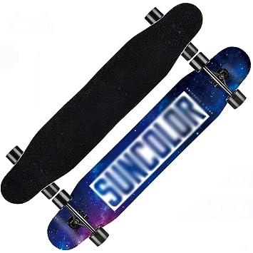 DUWEN Skateboard Longboard Niños y Niñas Principiantes Adulto Profesional Cepillo Street Dance Board Adolescentes Scooter de Cuatro Ruedas: Amazon.es: Hogar