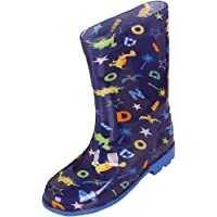 XFentech Infant Colorful Anti-Collision Non-Slip Lightweight Cartoon Print Rain Boots