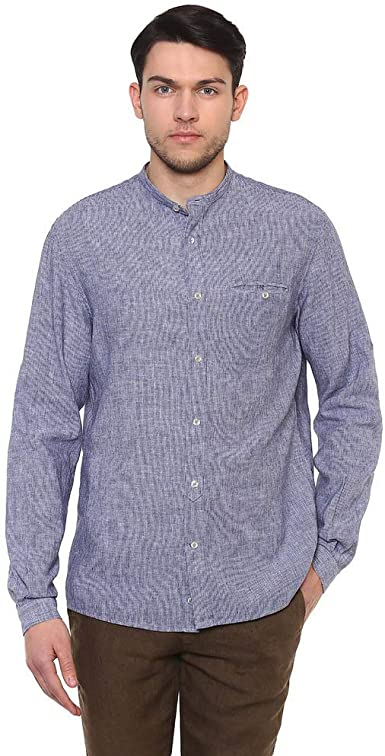 Celio Nalinfil2 Camisa, Azul (Chambray Chambray), 42 (Talla ...