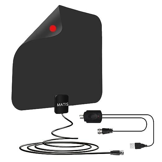 MATIS - Antena de TV Digital HD amplificada con 60 a 80 Millas de ...