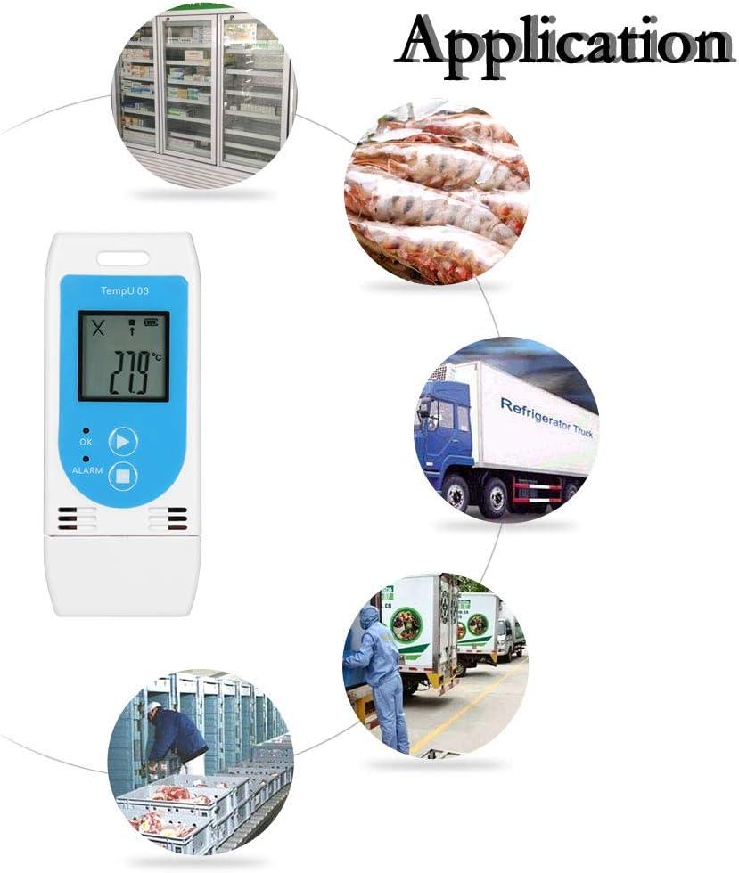 Baugger Temperatur-Luftfeuchtigkeits-Datenlogger USB-wiederverwendbarer RH-Datenlogger-Rekorder Humiture mit 12-000 Aufnahmekapazit/ät