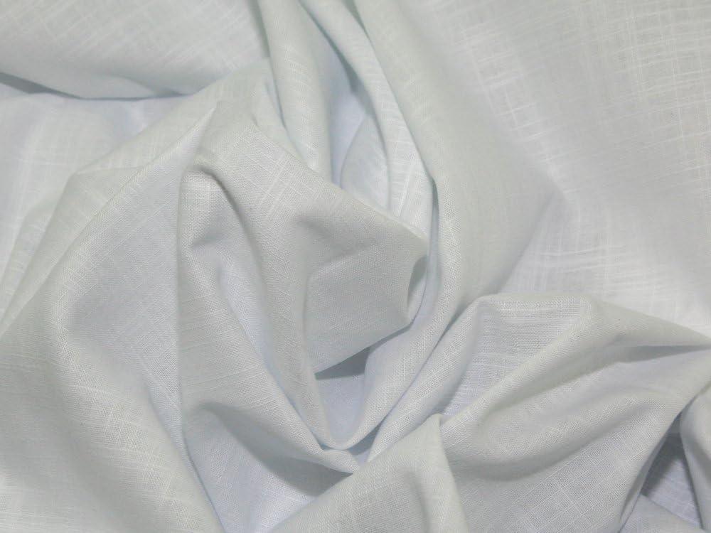 Ainsberry 58 cm de Ancho Tela algodón Vestido Tela Blanco – por ...