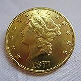 1877 USA Liberty Head (Motto on Reverse)$20 Gold Coins COPY