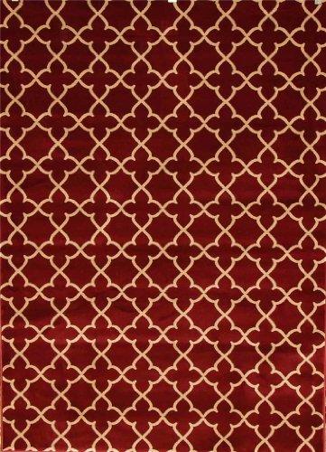 002 Burgundy Beige 5'2x7'2 Contemporary Simple Moden Area Rug Carpet