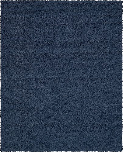 A2Z Rug Cozy Shaggy Collection 8x10-Feet Solid Area Rug - Sapphire Blue (8 Sapphire Area Rug)