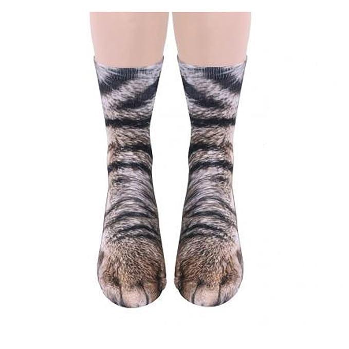 Adulto unisex Gatito bonito Cat Paw Calcetines, Animal Paw 3D Impresión de simulación Calcetines de la tripulación, 1 pares (Gato): Amazon.es: Ropa y ...